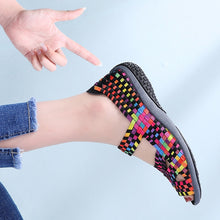 Load image into Gallery viewer, Women Woven Multi-Color Flat Sneakers Sandals - Peril