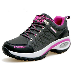 Women's Leather Suede Sneakers - Peril