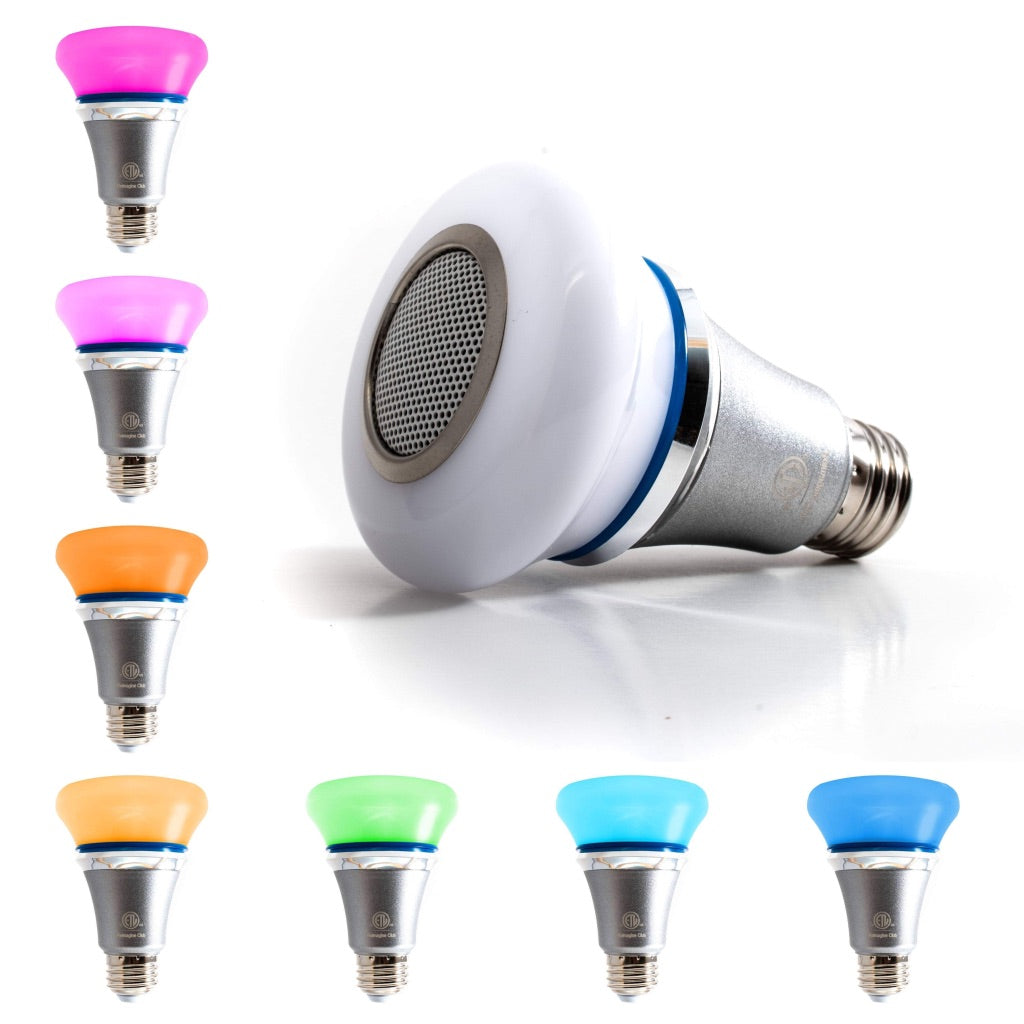 Bluetooth LED Multicolor Light Bulb Speaker RGB App Controlled Light with Alarm and Timer