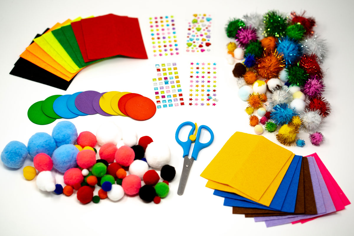 Arts and Crafts Collection: 1400+ Pieces to Create Your Own Craft Adventures. Crafting Supplies Library Set for Kids