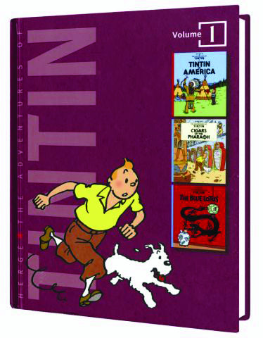 ADVENTURES OF TINTIN VOL 1 TINTIN IN AMERICA CIGARS OF THE PHARAOH BLUE LOTUS