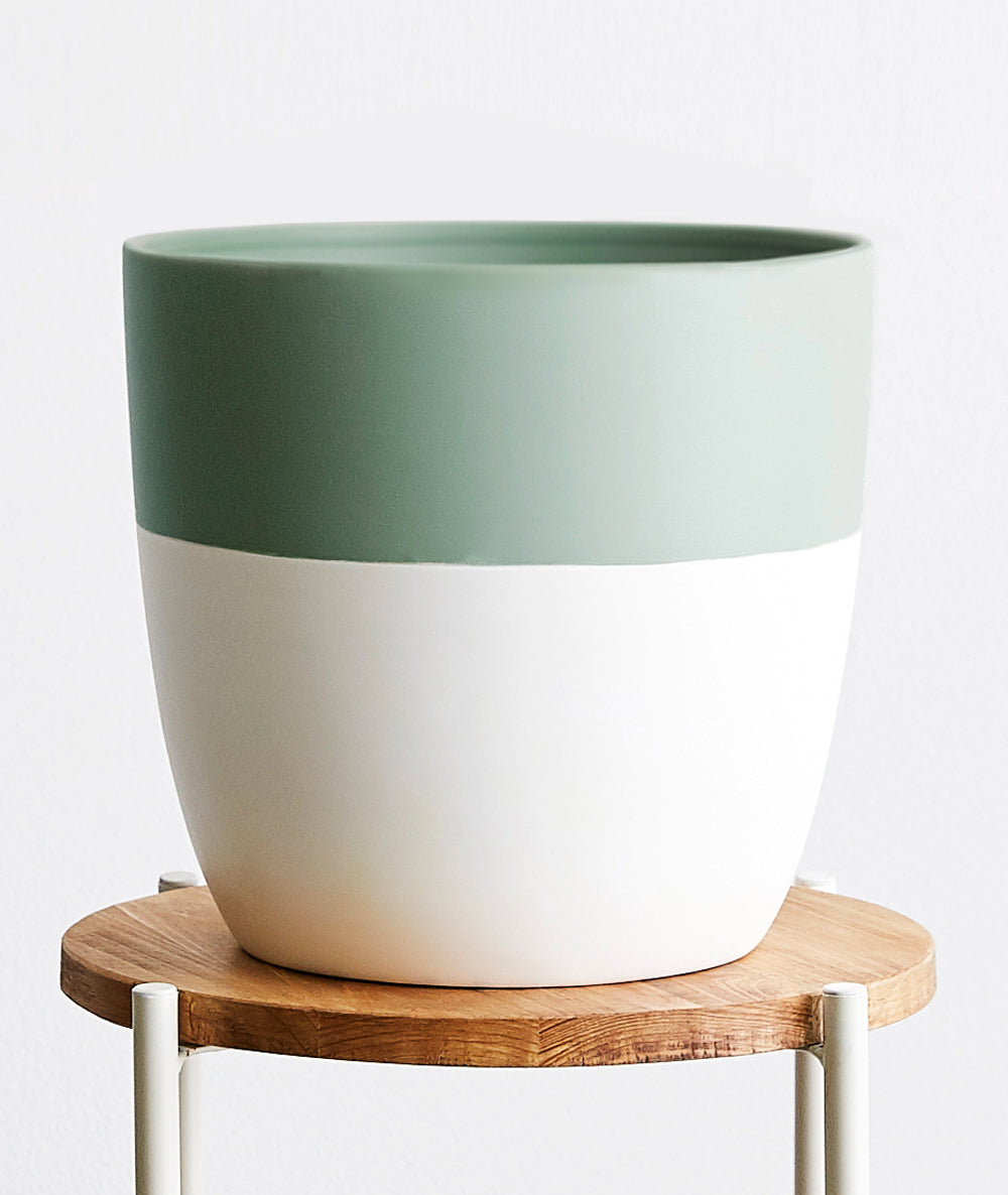 Large Seafoam Pot