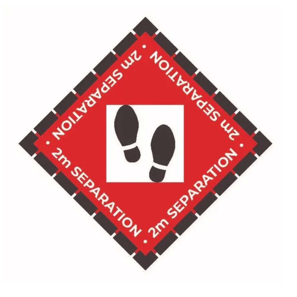 global-ppc-covid-signage-floor-decal-red-diamond
