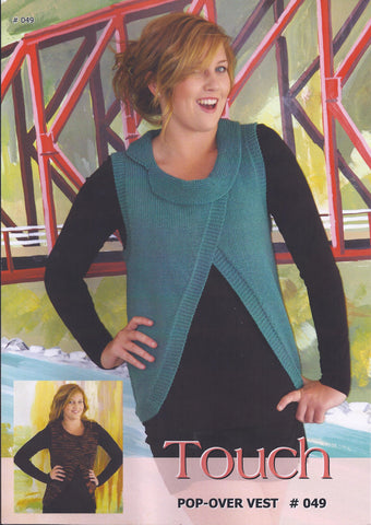 Pop-Over Vest Pattern #049 By Touch Yarns