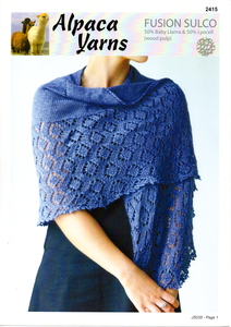 Lace Shawl #2415 by Alpaca Yarns