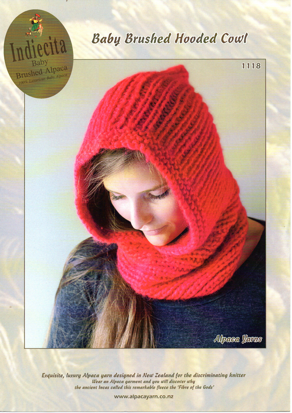 Baby Brushed Hooded Cowl #1118 by Alpaca Yarns