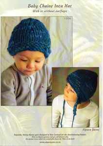 Baby Chaine Inca Hat #1006 by Alpaca Yarns