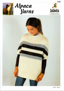 Chevron Woven Sweater #2708 by Alpaca Yarns