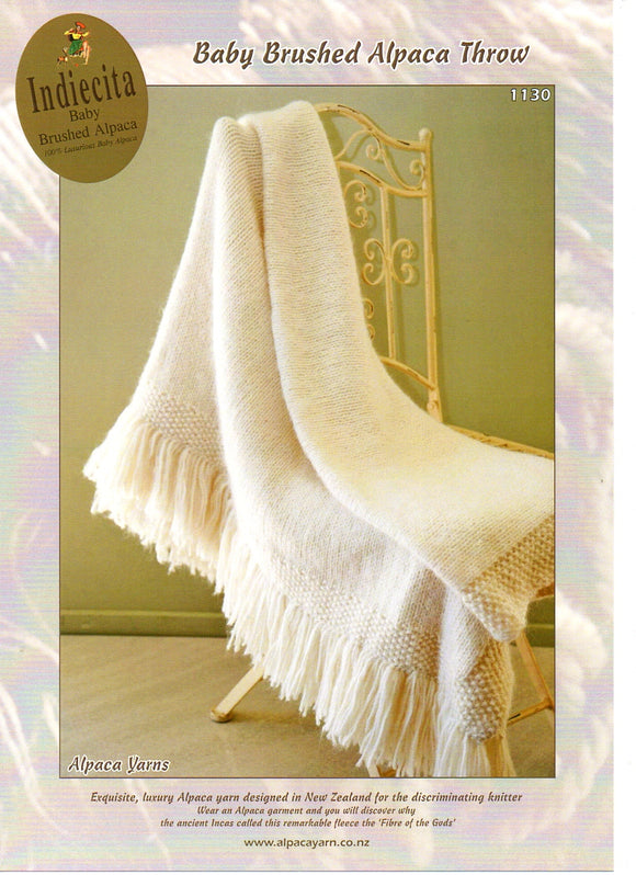 Baby Brushed Alpaca Throw #1130 by Alpaca Yarns