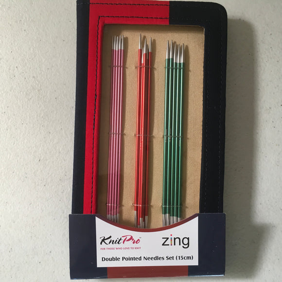 Zing Double Pointed Needle Set by Knit Pro