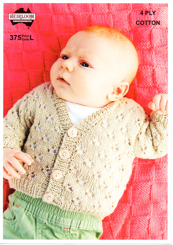 Baby's Cardigan #375 by Heirloom