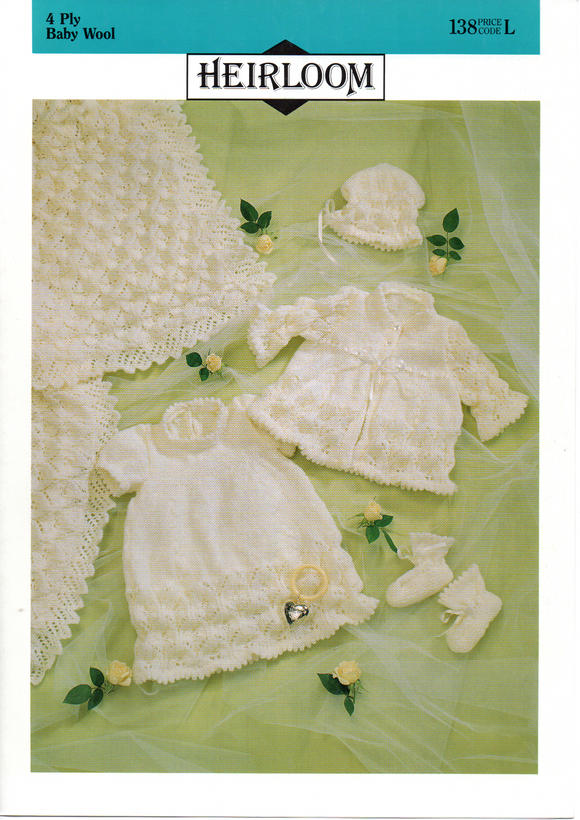 Baby Shawl & Matinee Set #138 by Heirloom