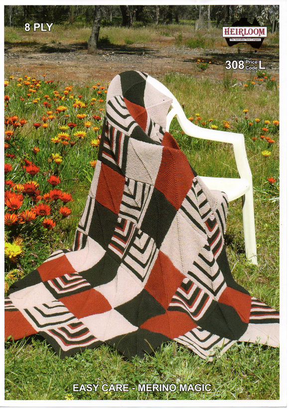 Diamond Patterned Large Blanket #308 by Heirloom