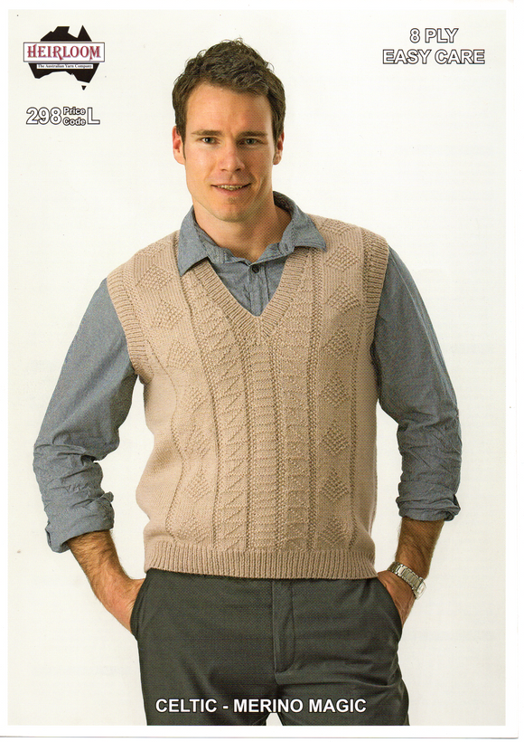 Mens Vest #298 by Heirloom