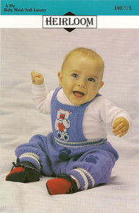 Knitted Overalls Pattern #140 By Heirloom