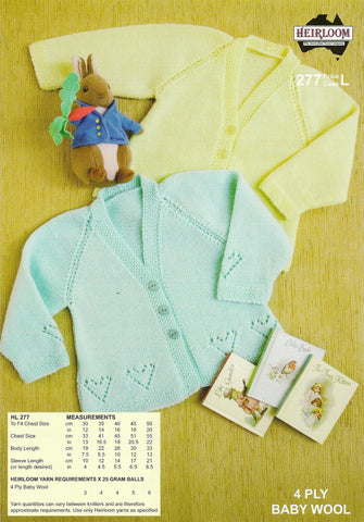 Baby Jacket Pattern #277 By Heirloom