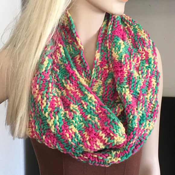 Hand Knit Snood Cowl Infinity Scarf