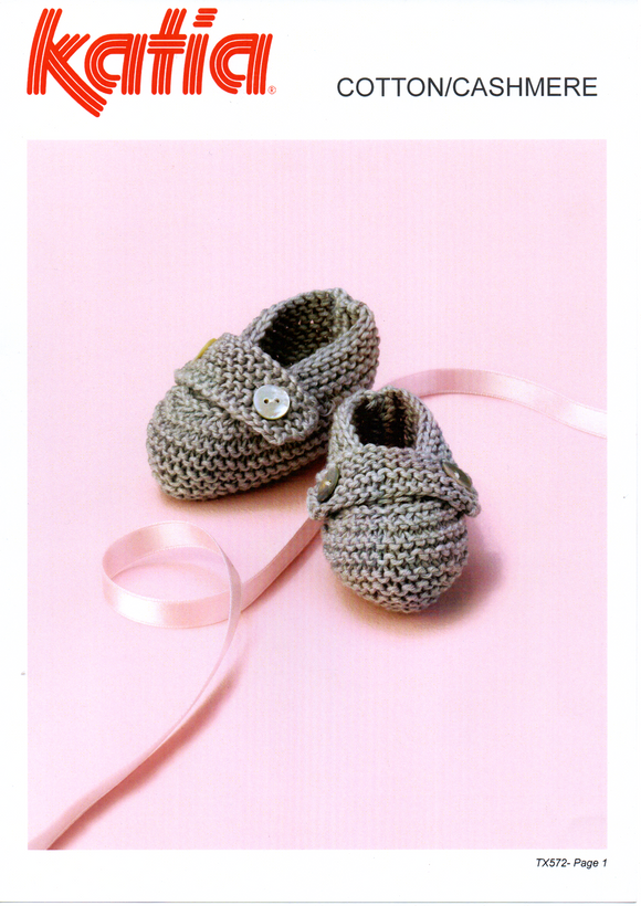 Baby's Booties #TX572 By Katia