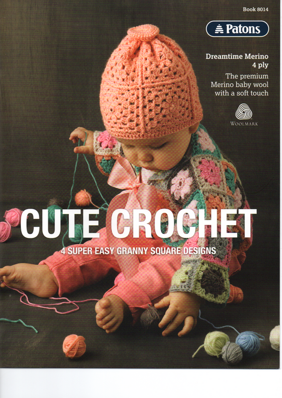 Cute Crochet Pattern Book #8014 By Patons