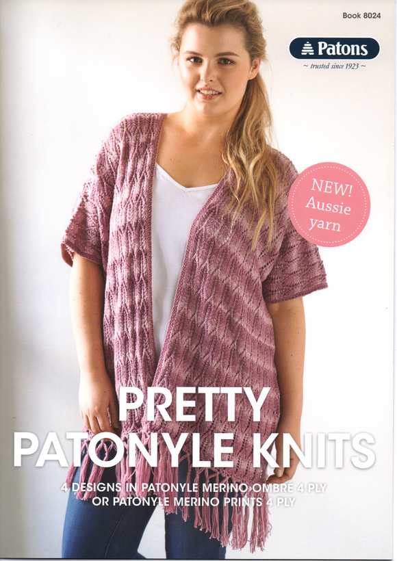 Pretty Patonyle Knits Pattern Book #8024 By Patons