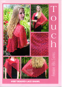Beaded Lace Shawl #087 By Touch Yarns