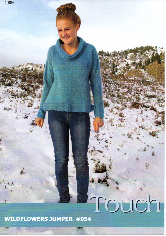 Wildflowers Jumper #054 By Touch Yarns
