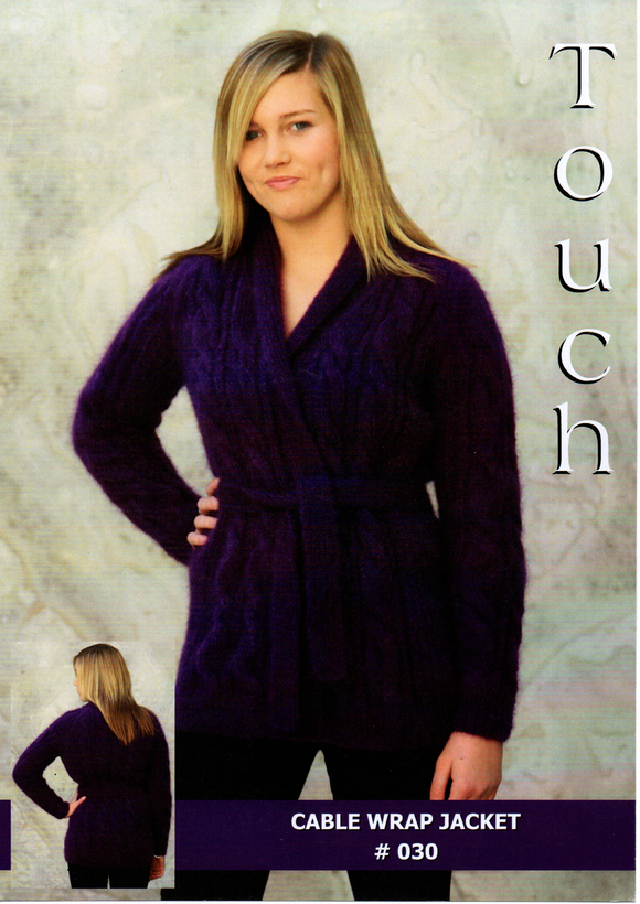 Cable Wrap Jacket #030 By Touch Yarns