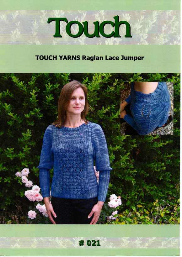 Raglan Lace Jumper #021 By Touch Yarns