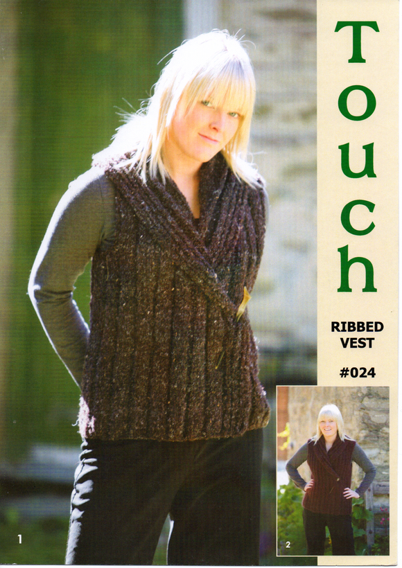 Ribbed Vest #024 by Touch Yarns
