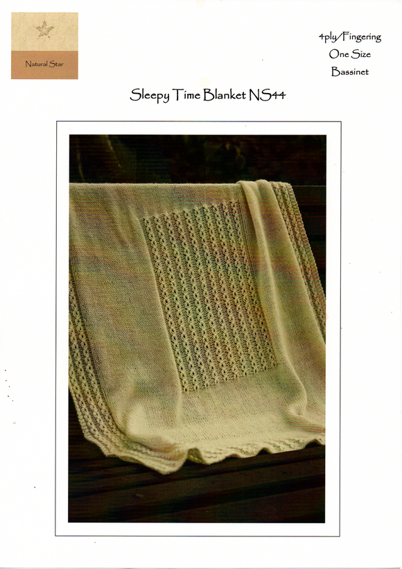 Sleepy Time Blanket #NS44 By Touch Yarns
