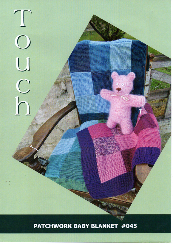 Patchwork Baby Blanket #045 By Touch Yarns