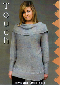 Cowel Neck Jumper #040 By Touch Yarns