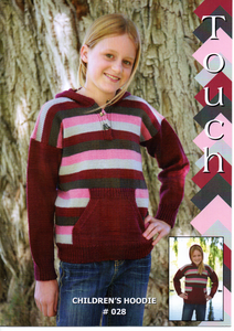 Childrens Hoodie #028 By Touch Yarns