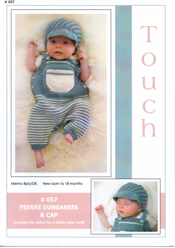 Pierre Dungarees & Cap #057 By Touch Yarns
