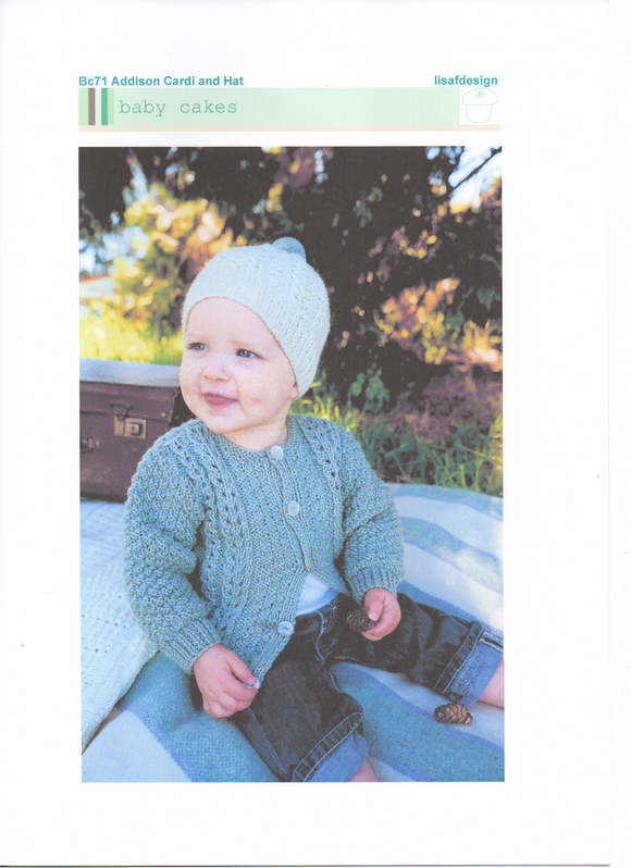 Addison Cardi & Hat #Bc71 By Touch Yarns