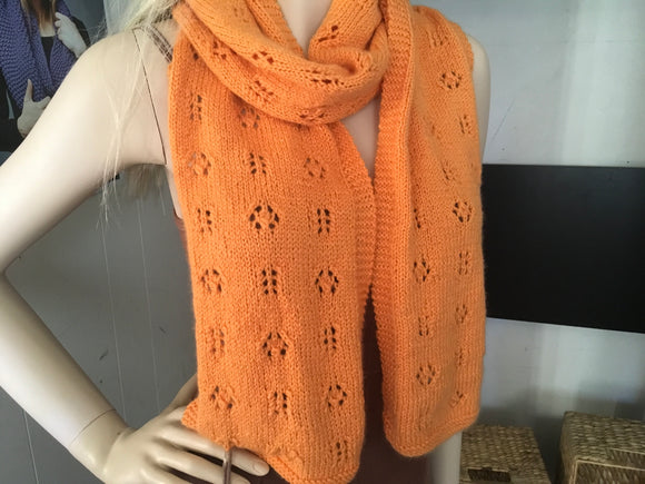 Orange Cashmere Scarf