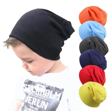 Boys Girls Knitted Cap Winter Warm Solid Color Children Hat