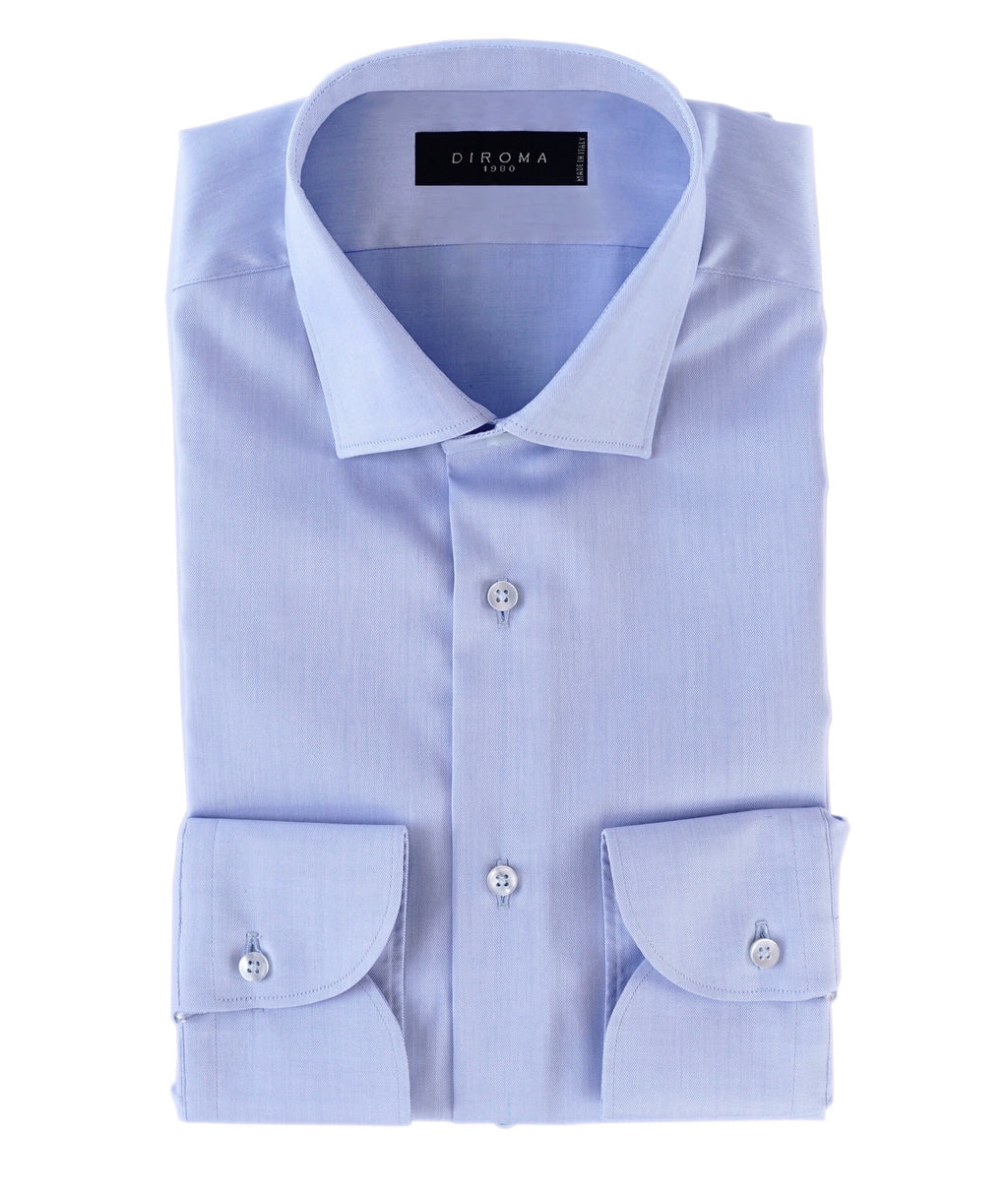 Luxury Non Iron Celeste Twill Slim Fit Shirt