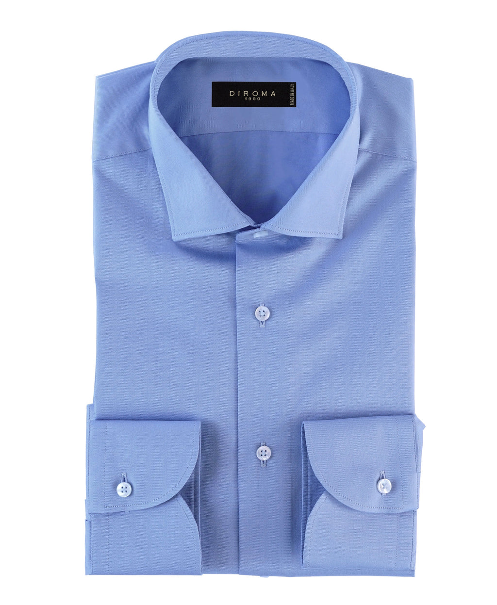 Luxury Easy Iron Blue Twill Slim Fit Shirt