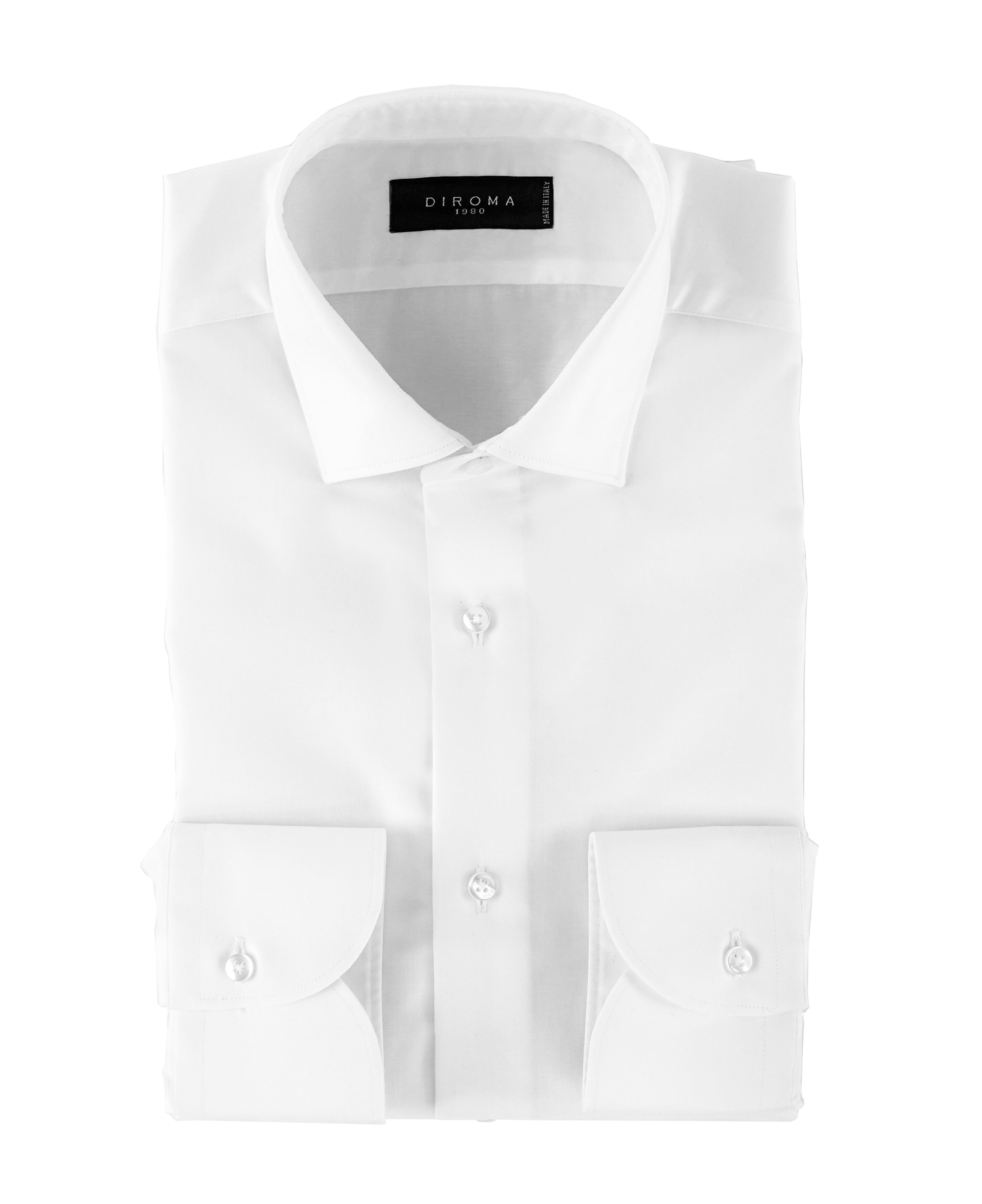 Luxury Non Iron White Twill Slim Fit Signature Shirt