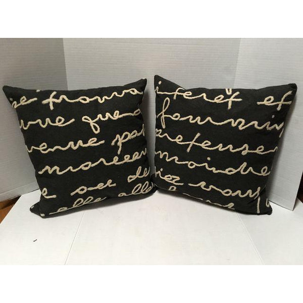 "18"" Ethan Allen Designer Pillows - a Pair"