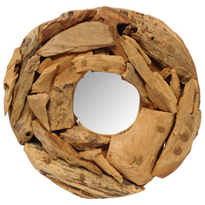 round driftwood mirror, small