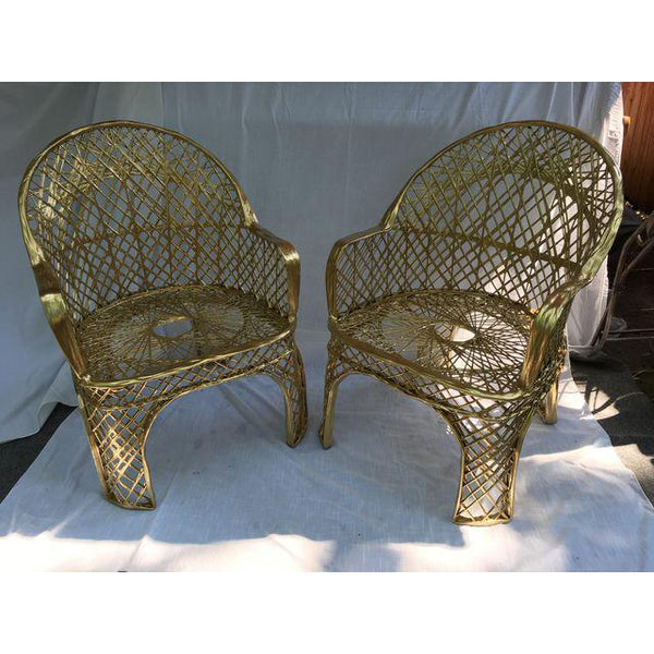 Spun Fiberglass Arm Chairs - A Pair