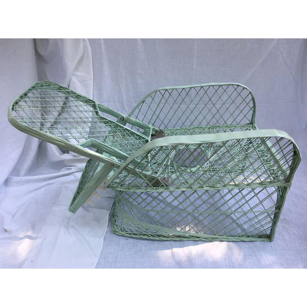 Vintage Spun Fiberglass Reclining Chair With Foostool