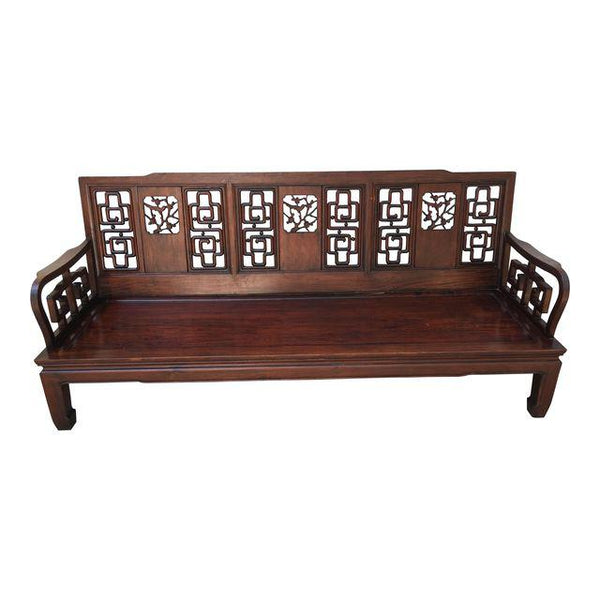 1960s Vintage Asian Rosewood Sofa