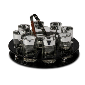 Black Patent Leather Bar-ware Set