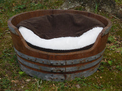 Whiskey Barrel Dog Bed