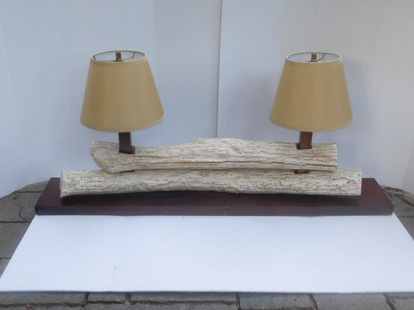 Driftwood Double Lamp
