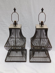 Pair of Industrial Table Lamps