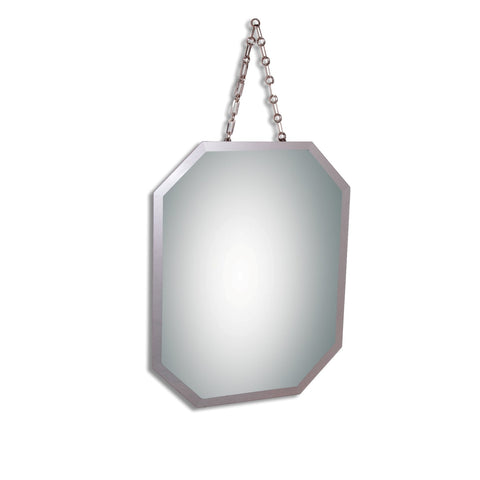 Octagonal Decorator Mirror with Chain